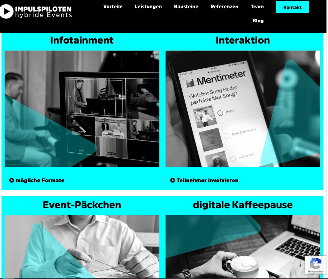 Projektseite der Impulspiloten GmbH